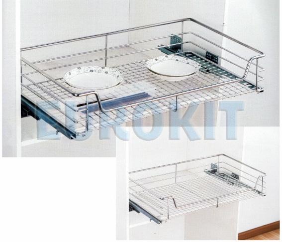 Giá để xoong nồi tủ bếp dưới - đan ô vuông Inox 304 - Mã SP : HE 600/700/800/900
