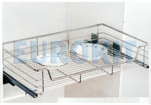 Giá để bát đĩa tủ bếp dưới nan tròn Inox 304 - Mã SP: BG - 600/700/800/900