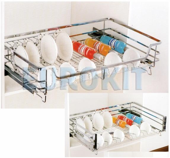 Giá để bát đĩa tủ bếp dưới đan ô vuông Inox 304 - Mã SP: HG - 600/700/800/900