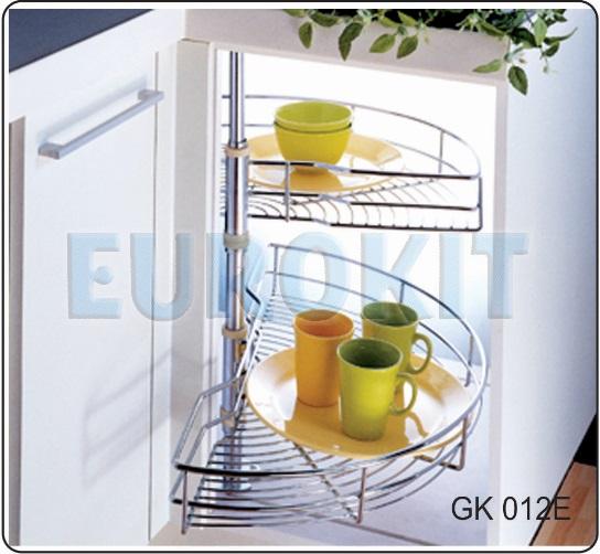 Mâm xoay góc tủ 1/2 chất liệu inox - Mã SP: GK 012E