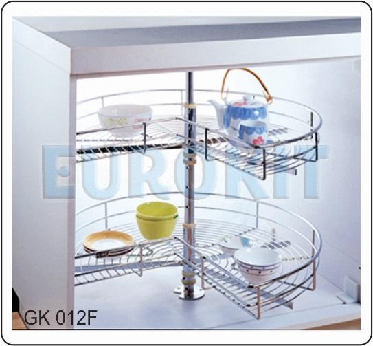 Mâm xoay góc tủ 3/4 chất liệu inox - Mã SP: GK 012F