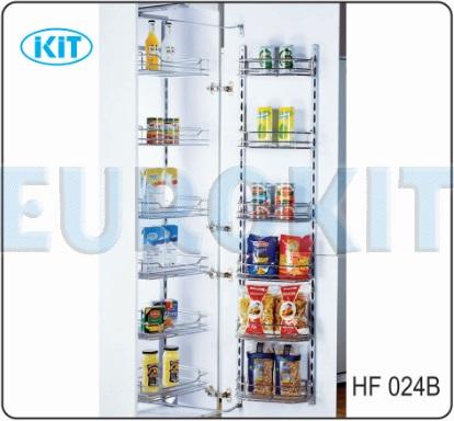 Tủ kho 6 tầng cánh mở Inox 304 đan ô vuông 12 rổ - Mã SP :  HF 024B