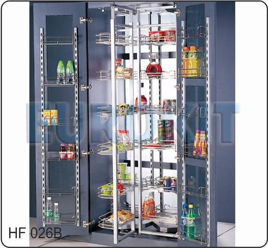 Tủ kho 6 tầng cánh mở 2 bên 36 rổ  inox 304 mạ crom - Mã SP : HF 026B